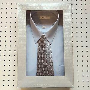 Pierre Cardin Light Blue Dress Shirt and Tie Set